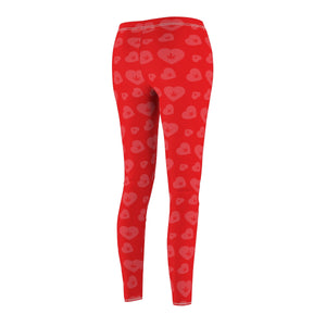 WEED HEART LEGGINGS (RED)