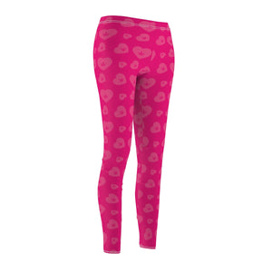 WEED HEART LEGGINGS (PINK)