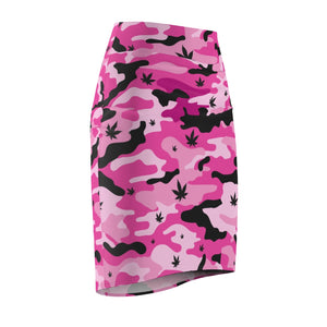 Pink Canno Womens Cannabis Pencil Skirt