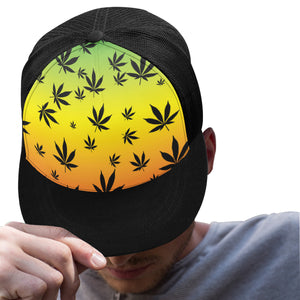 Rasta Weed Leaf Cannabis Trucker Hat