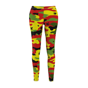 Rasta Canno Weed Leaf Pattern Cannabis Leggings