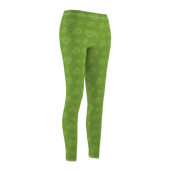 WEED HEART LEGGINGS (GREEN)