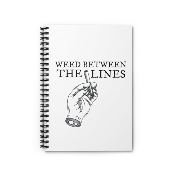 WEED BETWEEN THE LINES SPIRAL NOTEBOOK