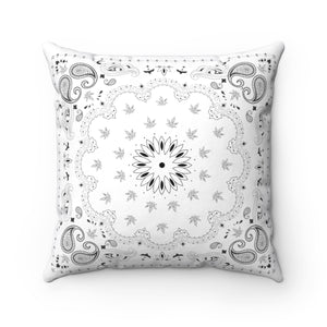 WHITE WEED BANDANA THROW PILLOW