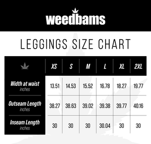 WeedBams Black and White Cannabis Leggings