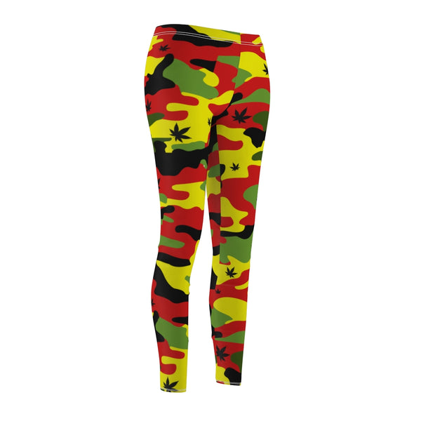 Rasta Canno Weed Leaf Pattern Leggings
