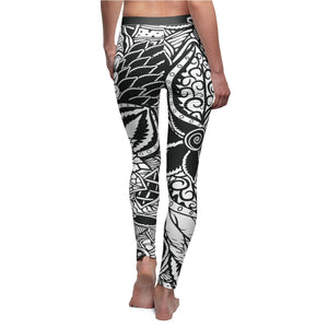 Psychedelic Cannabis Leggings