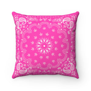 PINK WEED BANDANA THROW PILLOW