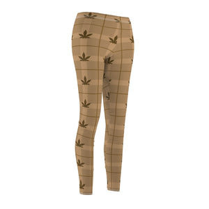 Budberry Beige Cannabis Leggings