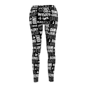 The Names of Weed Cannabis Leggings