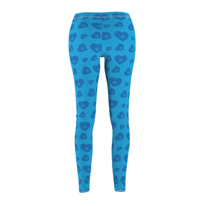 Weed Heart Cannabis Leggings - Blue