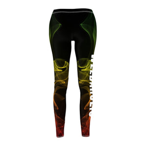 Weedaholic Rasta Smoke Cannabis Leggings