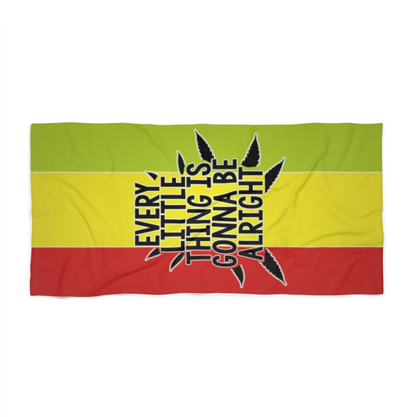 Beach Towel - Rasta - Everything is gonna be alright
