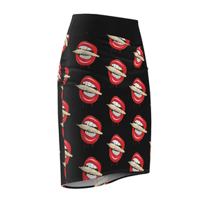 Rolling Stoned Womens Cannabis Pencil Skirt
