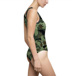 CANNO One Piece Weed Leaf Cannabis Swimsuit