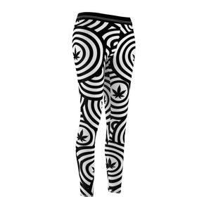 Cannabis Hat Trick Pattern Cannabis Leggings