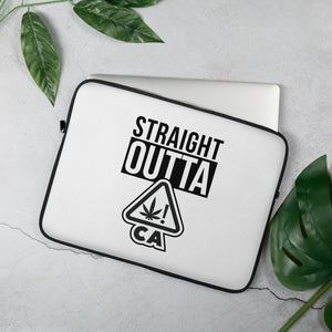 "STRAIGHT OUTTA ""CA"" (cannabis warning symbol)"
