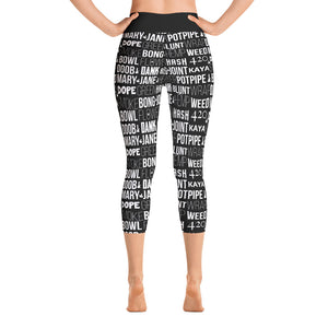 WEED TYPOGRAPHY LEGGINGS