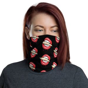 Red Rolling Stoned Cannabis Neck Gaiter