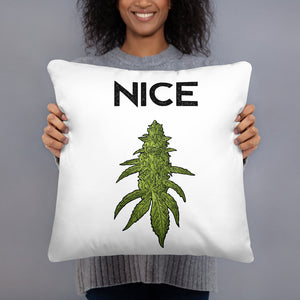 Naughty / Nice Throw Pillow