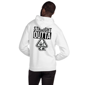 Straight Outta Ca Warning Symbol Black logo - Unisex Hoodie
