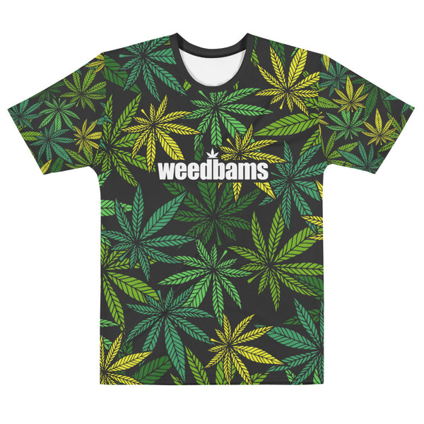 WEEDBAMS WEED PATTERN TEE - MENS