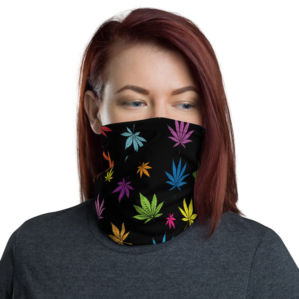 Colorful Weed Cannabis Neck Gaiter