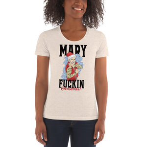 MARY F**** CHRISTMAS - WOMENS TEE (TAN)
