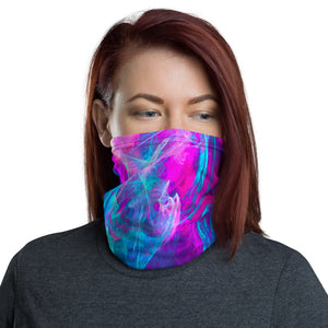 High Dye Pink and Blue Cannabis Neck Gaiter