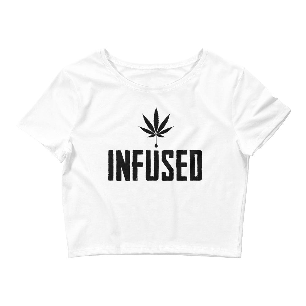 Infused Women's Cannabis Crop Tee