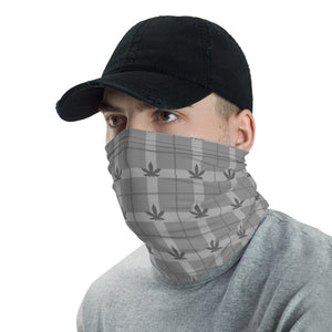 Budberry Grey Patterned Cannabis Neck Gaiter