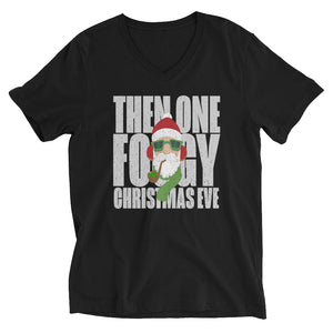 THEN ONE FOGGY CHRISTMAS EVE - Unisex Short Sleeve V-Neck T-Shirt