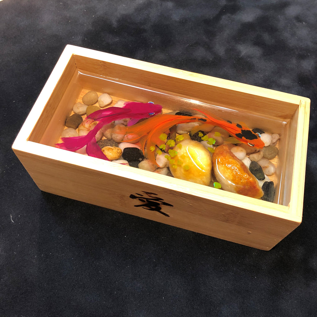 Koi in Bamboo Box