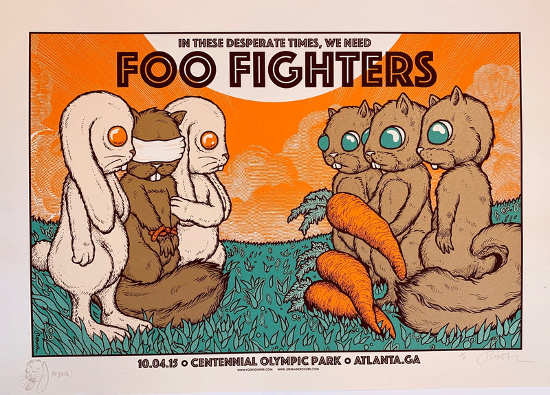 Foo Fighters - Atlanta, GA - 10.04.15 (The Exchange) full color AP