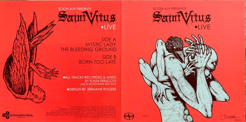 Saint Vitus - red record flat w/ fold TEST