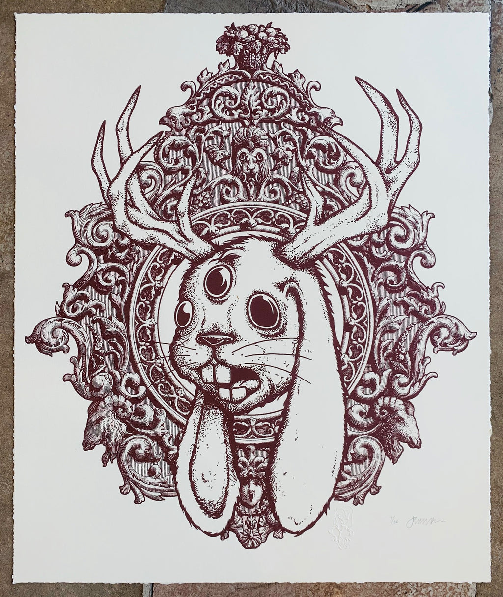 3 Eyed Jackalope deckled 1/20