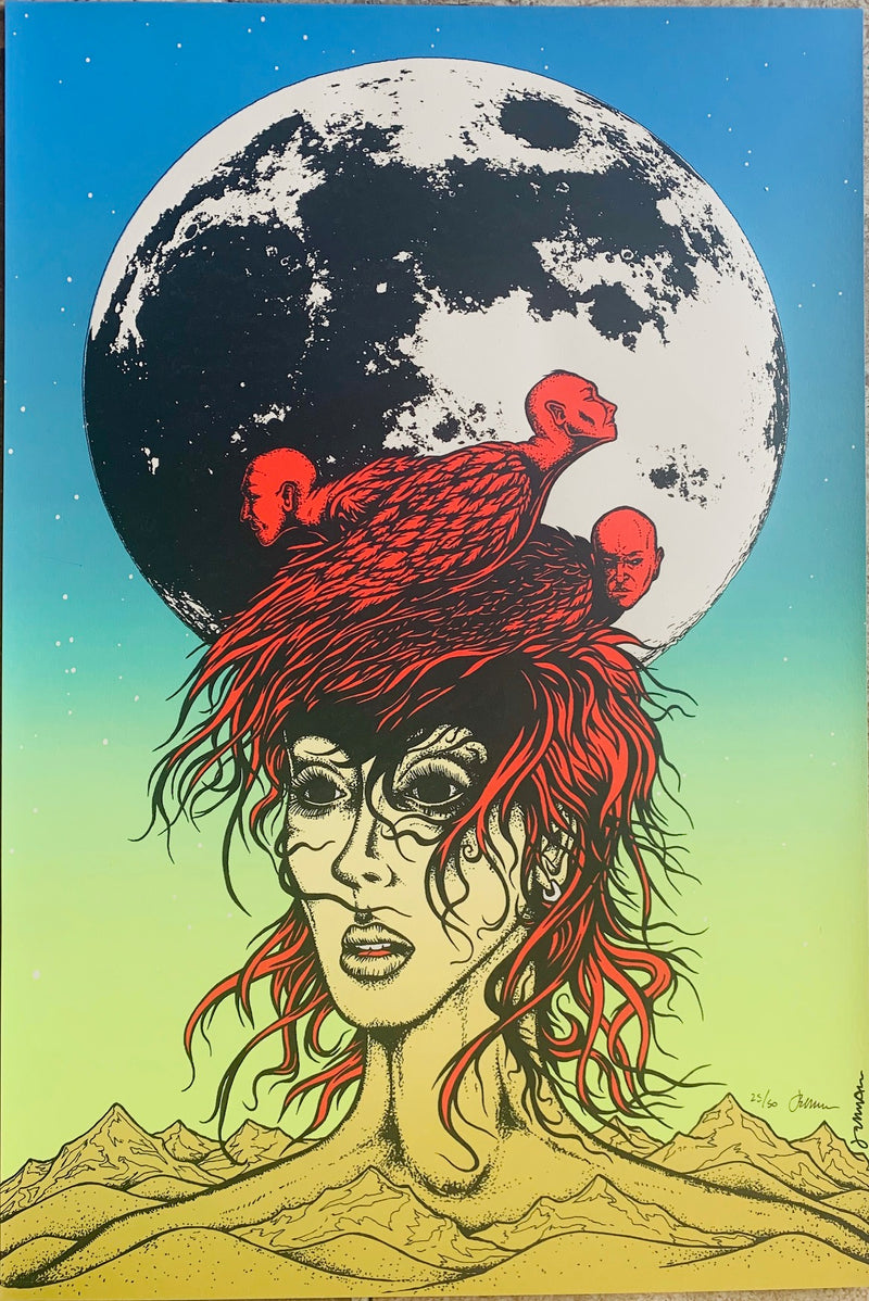 WEEN Moon and face graphic (you were going to look up the name of this art print) 25/50