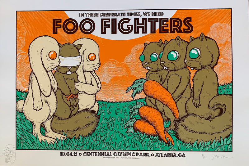 Foo Fighters 10.04.15 exchange A/P with remarque