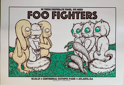 Foo Fighters - Atlanta, GA -10.04.15 (The Exchange)double sided TEST- double signature!!