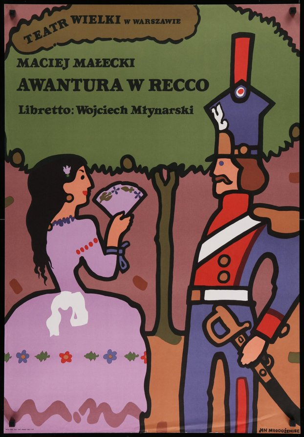 Awantura W Recco (art of woman and soldier)