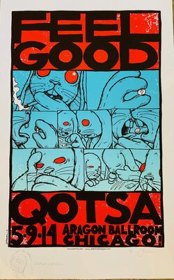 QOTSA - Chicago, IL - 5.9.14 - Feel Good graphic AP