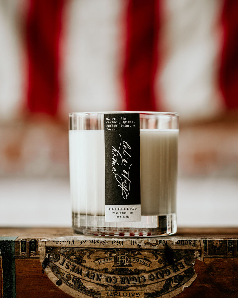 Let's Stay Home Wood Wick Candle Made in Pendleton Oregon