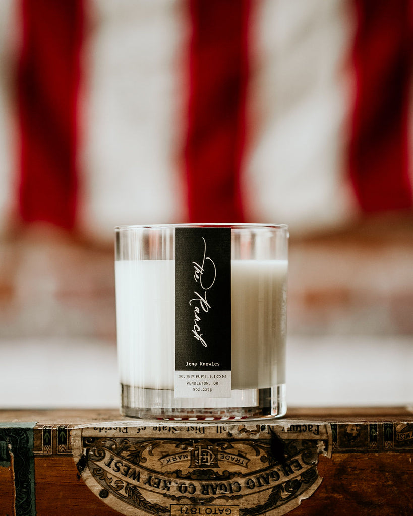 The Ranch Wood Wick Candle Made in Pendleton Oregon