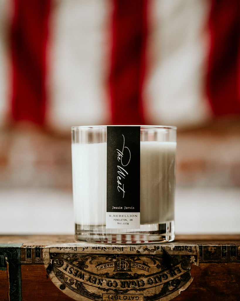 The West Wood Wick Candle Made in Pendleton Oregon