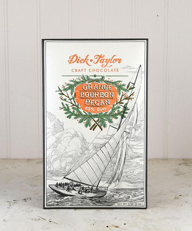 Dick Taylor Craft Chocolate - 65% Dark with Orange, Bourbon, and Pecan