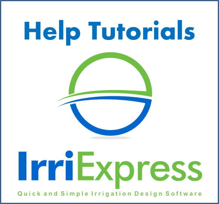 IrriExpress CAD Menu - Help Tutorial