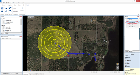 IrriExpress Irrigation Software Long Section Reports