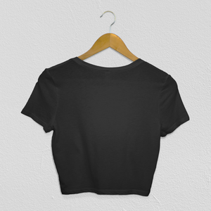 Anxious But Courageous Cropped Tee in Black.