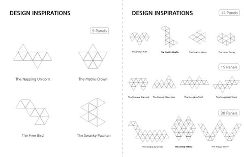 Preview of the Nanoleaf Aurora Design Inspirations PDF.