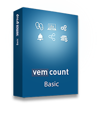 Vemcount analytics - Basic on-premise cloud software - Bulk up to 5 connections (license per location)